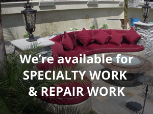 We're available for SPECIALTY WORK  & REPAIR WORK